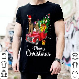 Beautiful Airedale Terrier Rides Red Truck Christmas Pajama shirt