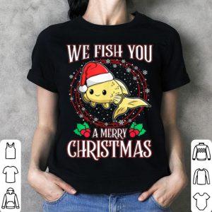 Beautiful Aquarium Lover Tropical We Fish You a Merry Christmas shirt