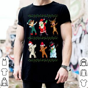 Beautiful Funny Dabbing Santa Scottish Terrier And Friends Christmas sweater