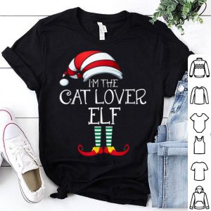 Beautiful I'm The Cat Lover Elf Family Matching Christmas Pet Owner shirt