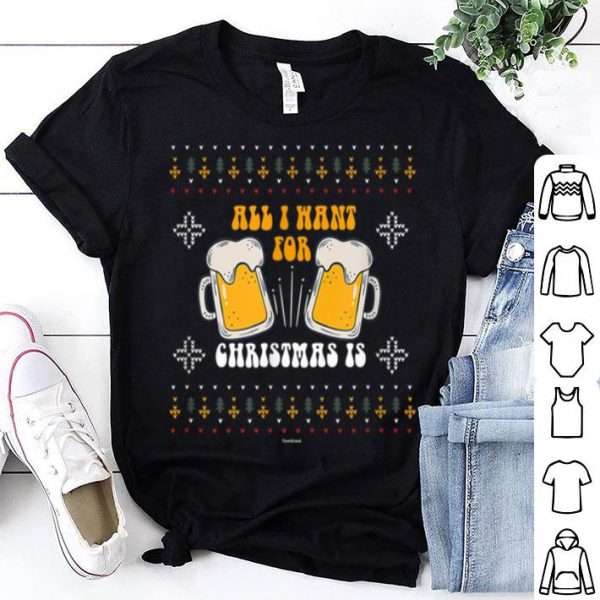 Hot Cool Xmas Beer Drinker Connoisseur Ugly Christmas Drinking shirt