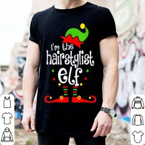 Hot I'm The Hairstylist ELF Christmas Xmas Funny Matching Family shirt