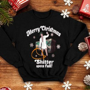Hot Merry Christmas Shitter Was Full Vacation Funny sweater