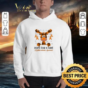 Hot Reindeer hope for a cure Multiple Sclerosis Awareness shirt 2