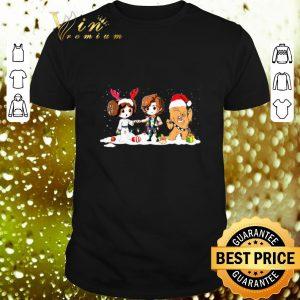 Hot Star Wars chibi Christmas Princess Leia Hans Solo Chewbacca shirt