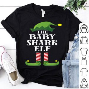 Nice Baby Shark Elf Matching Family Group Christmas Party Pajama shirt