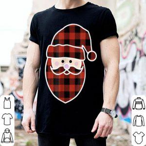 Nice Buffalo Plaid Santa Christmas Pajamas Addition shirt