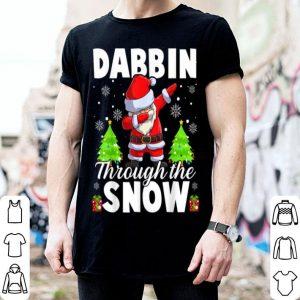 Nice Dabbin Through The Snow Funny Santa Claus Christmas Gifts shirt