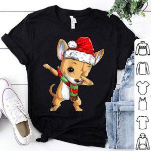 Nice Dabbing Chihuahua Santa Christmas Kids Boys Gifts shirt