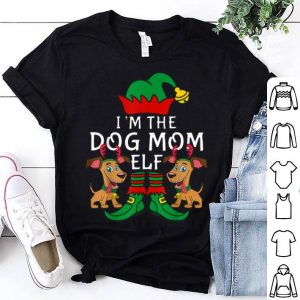 Nice I'm The Dog Mom Elf Matching Family Group Christmas Xmas shirt