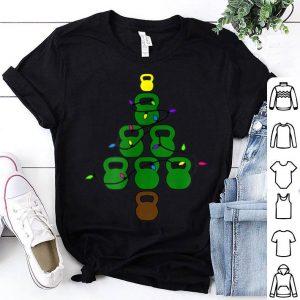 Nice Kettlebell Christmas Tree With Lights Workout shirt