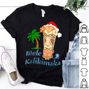 Nice Mele Kalikimaka Merry Christmas Hawaiian Tiki shirt