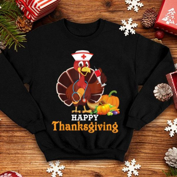 Official Cute Nurse Turkey Doctor Thankful Blessed Happy Thanksgiving shirt