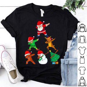 Official Dabbing Christmas Santa Best Friend Xmas Squad Dab Kids Boys shirt