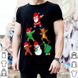 Official Dabbing Christmas Santa Best Friend Xmas Squad Dab Kids Boys shirt