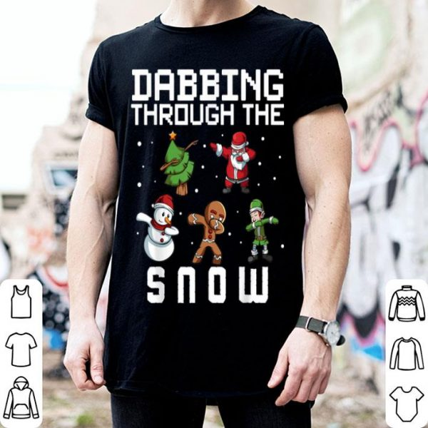 Official Dabbing Through The Snow Christmas Tree Santa Elf Snowman sweater