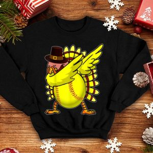 Official Dabbing Turkey Thanksgiving Softball Thanksgiving Gift shirt