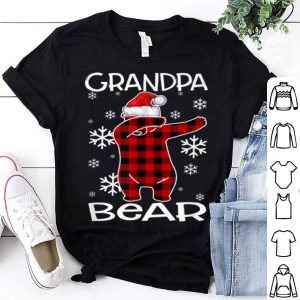 Official Grandpa Bear Pajama Dabbing Hat Santa Christmas Family Ugly shirt