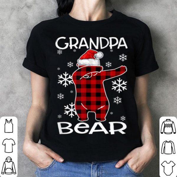 Official Grandpa Bear Pajama Dabbing Hat Santa Christmas Family Ugly shirt