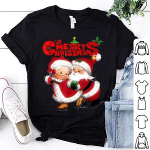 Official Happy christmas Cute Mrs Claus and Mr Claus shirt