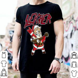 Official Sleigher Santa Claus Metal Christmas funny Hail Santa shirt