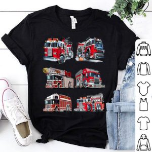 Official Types of Fire Truck Boy Toddler Kids Firefighter Xmas Gifts shirt