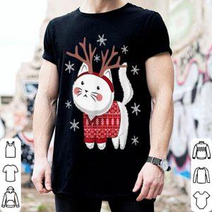 Official Ugly Christmas Sweater Cat Deer shirt