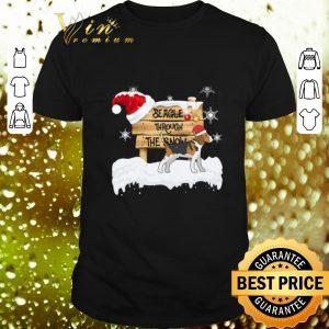 Original Beagle Through The Snow Christmas shirt