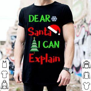 Original Dear Santa I Can Explain Funny Christmas Hat Tree Snow sweater