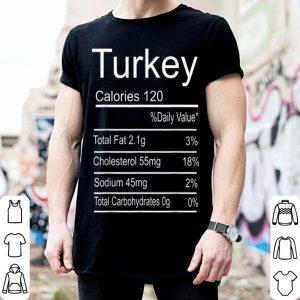 Original Funny Turkey Nutrition Thanksgiving Costume shirt