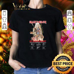 Original Iron Maiden 45th Anniversary 1975-2020 Signatures shirt