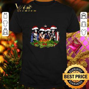 Original Kiss Merry Christmas American Flag shirt