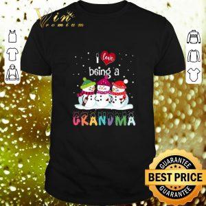Original Snowmans I Love Being a Grandma Christmas shirt