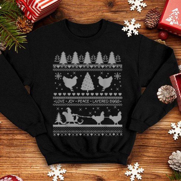 Premium Chickens Farm Lover Ugly Christmas Pajama Gift shirt
