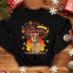 Premium Cute Cat Wearing Turkey Hat Fall Autumn Happy Thanksgiving shirt