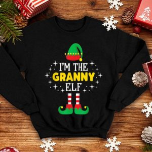 Premium I'm The Granny Elf Cute Xmas Matching Group Party PJ shirt