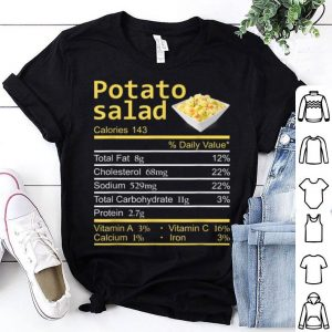 Premium Potato Salad Nutrition Facts Thanksgiving Costume Christmas shirt