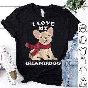 Pretty French Bulldog Grandma Xmas Gift Fun Frenchie Granddog shirt