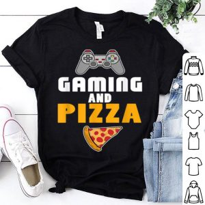 Pretty Gaming And Pizza Cool Gaming Christmas Gift shirt