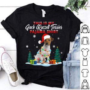 Pretty Jack Russell Terrier Christmas Pajama Lights Funny Love Dog shirt