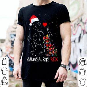 Pretty Nanasaurus Red Plaid Christmas Pajama Matching Family Gift shirt