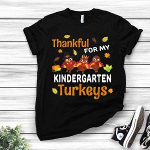 Pretty Thankful Turkey Kindergarten Teacher Thanksgiving Gift shirt