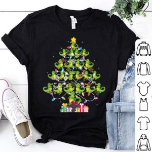Top Alligator Christmas Tree Pajama Lights Gift shirt