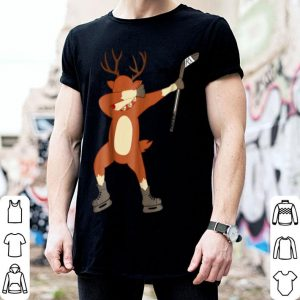 Top Dabbing Rudolph Hockey Funny Reindeer Dab Dance shirt