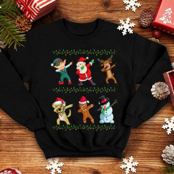 Top Dabbing Santa Golden Retriever And Friends Christmas shirt