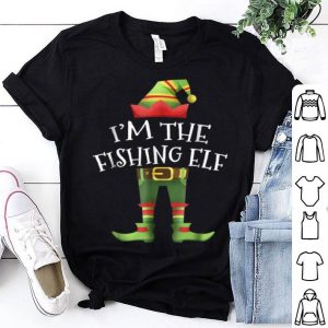 Top I'm The Fishing Elf Group Matching Family Christmas shirt
