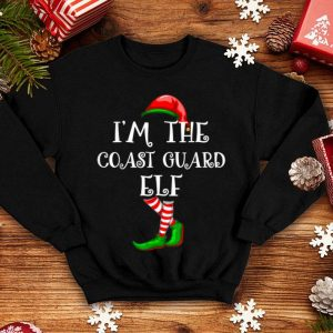Top I'm the COAST GUARD ELF Matching Family Group Christmas sweater