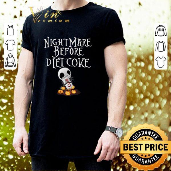 Top Jack Skellington Nightmare before Diet Coke shirt