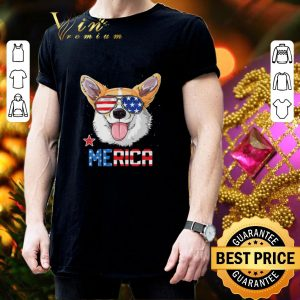 Top Sunglass Corgi Merica 4th July independence day American flag shirt 2