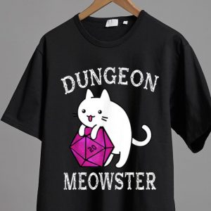Awesome Dungeon Meowster Nerdy Gamer D20 RPG Cat Lover shirt 1